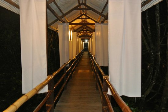 Badjao Seafront: Hallway leading to the exit.. makes me dream Im walking down the aisle like the ones in fairytal