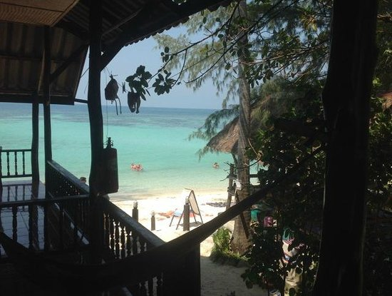 My Way Bungalows: View from the hammock