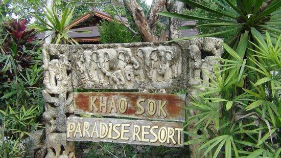 Khao Sok Paradise Resort: Welkom
