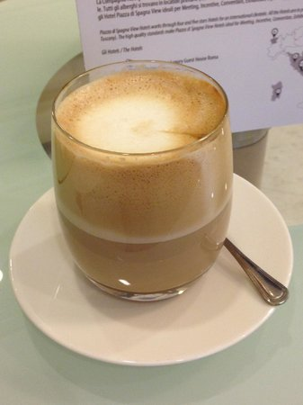 Hotel dei Borgia: great lattes -- but you need to ask