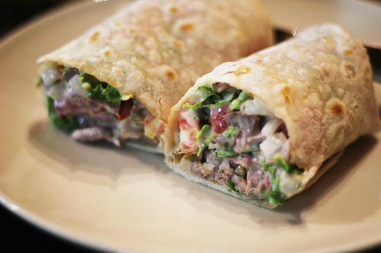 Ricky's Coffee Shop: The Blue Cheese Roast Beef Sandwich Wrap - Awesome