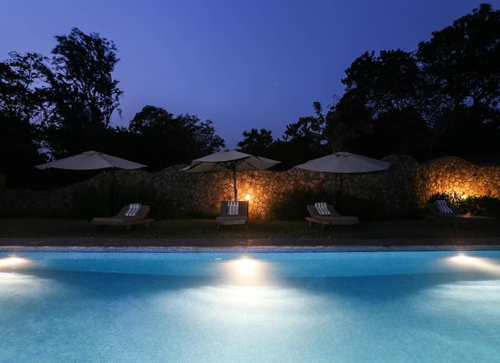 Lake Duluti Lodge: Swimming Pool view