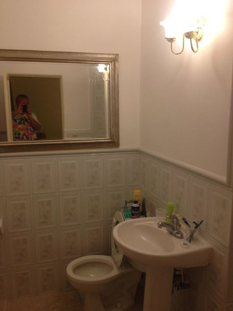 Princess Ann Hotel: Bathrooms just renovated. New fixtures here.