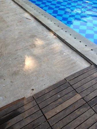 Neemrana's Tower House : bord de piscine non fini