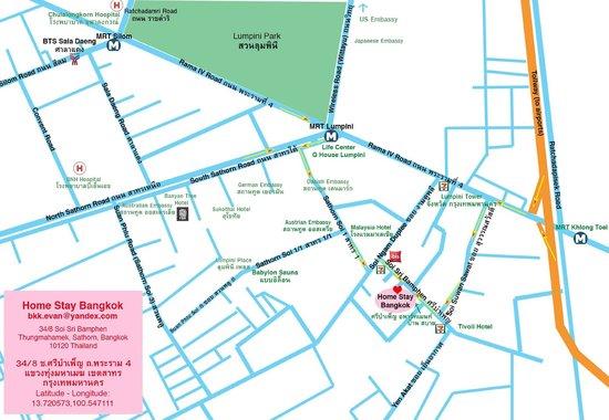 BKK Lumphini Home Stay : Local map