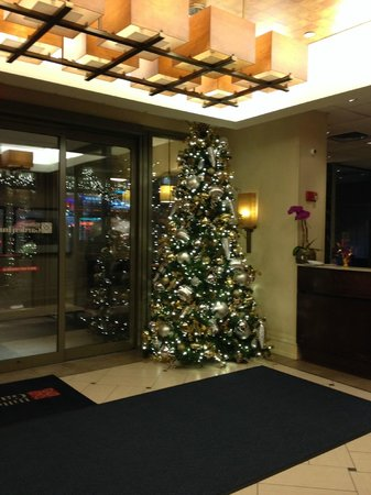 Hilton Garden Inn Times Square : Christmas Tree in Reception