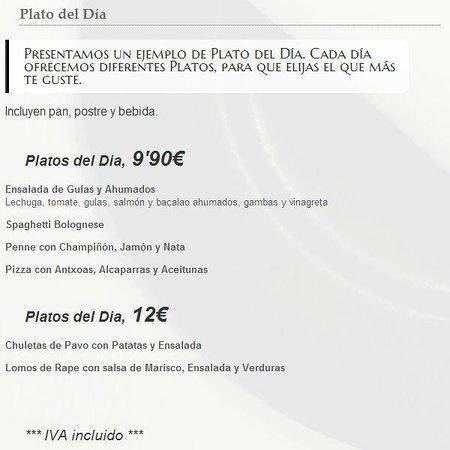 Plato del día Hostaria Marchese del Porto