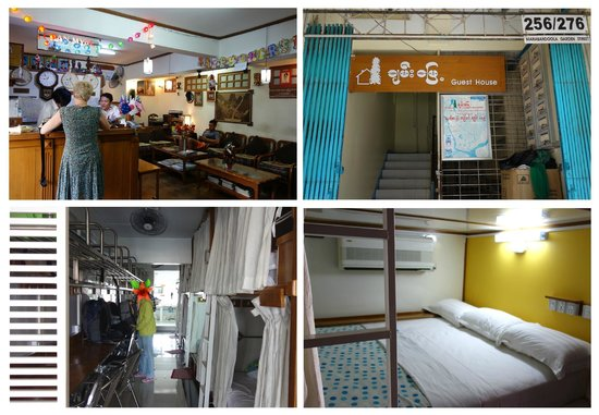 Chan Myae Guesthouse : The dorm bed, Chan Myae GH