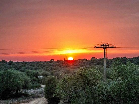 Sa Bassa Plana: Blick Juniorsuite Richtung Sonnenuntergang