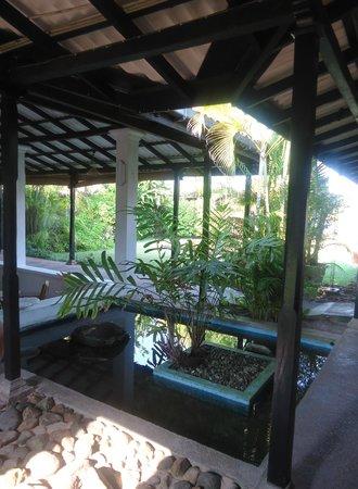 Sri Budhasa Ayurveda Resort: Koikarpers bij eetruimte