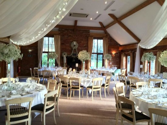 july wedding reception westerham golf club restaurant