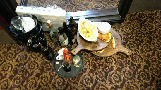 Redworth Hall Hotel: pile of stinky mess left for hours in walkway