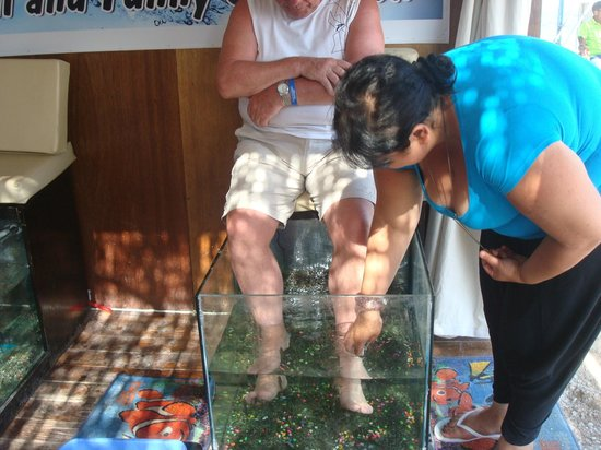 Triton Empire Hotel: Dr. Fish with after care on the beach