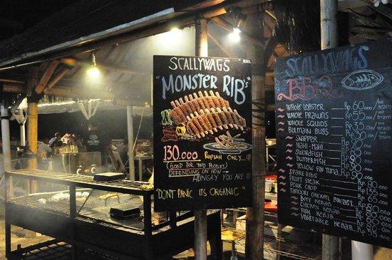 Scallywags Seafood Bar & Grill : @ Scallywag gili Trawangan