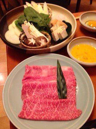 Ginza Rangetsu: Sukiyaki set