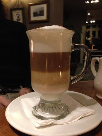 Innkeeper's Lodge Hathersage, Peak District: one of the many - delicious coffees