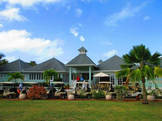 Magdalena Grand Beach & Golf Resort : Golf carts at the Club House