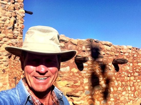 Terry Hunefeld at Besh Ba Gowah - reconstruction brings these ruins to life