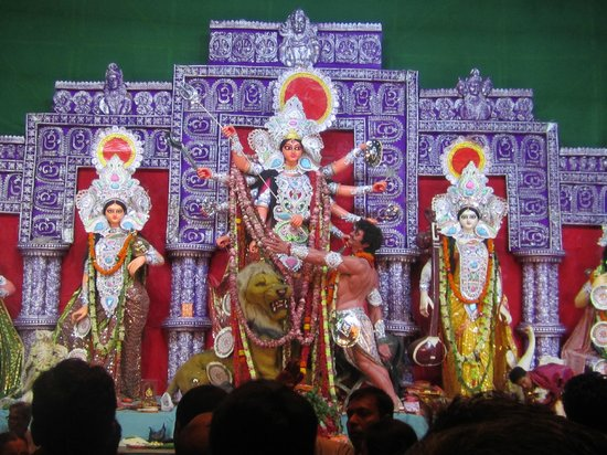 The Red Carpet: Durga Puja celebration near the apartment