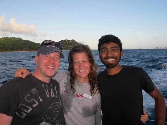 Sail Caribbean Divers: With my instructor Gina and fellow open water student.