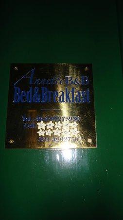 Annette B&B: название отеля