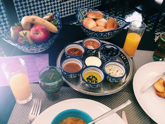 Palais Amani: breakfast of jams and cheeses