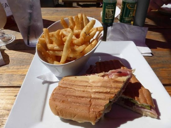 The Hub Baja Grill: Cuban sandwich and fantastic fries at The Hub