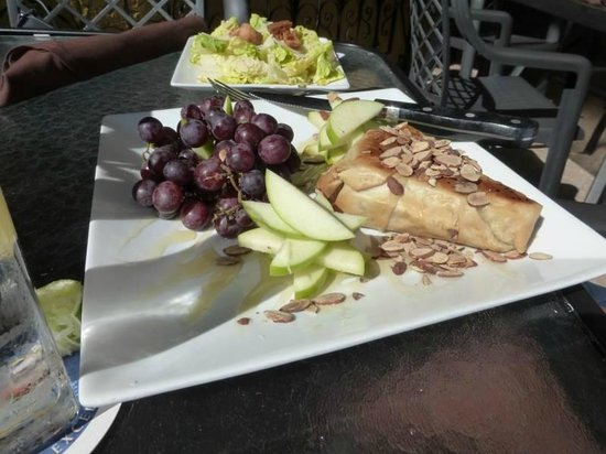 Baked brie at The Waterfront Restaurant - delicious!