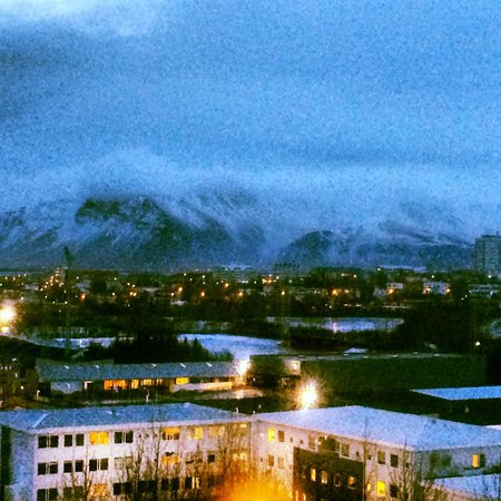 Reykjavik Lights by Keahotels : View from the room on a cloudy day