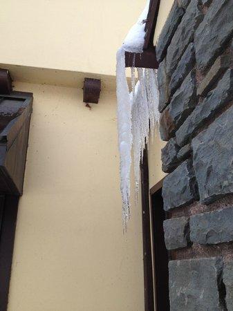 Settlers Inn: Icicles outside