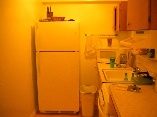 Dolphin Inn: Room 11- full kitchen- no dishwasher- we brought paper plates anyway!