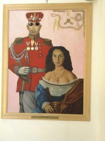 Hotel Modigliani: Painting on wall