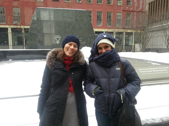 Boroughs Of The Dead: Macabre New York City Walking Tours: Andrea and Denise looking for spirits in the cold.