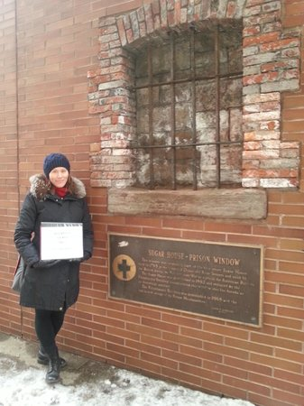 Boroughs Of The Dead: Macabre New York City Walking Tours: Andrea teaching us about the jails of NYC's past.