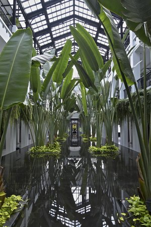 The Siam : Atrium reflecting pool and fountain