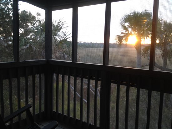 Fort McAllister State Historic Park Campground: From the porch.