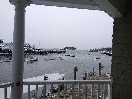 Grand Harbor Inn: View from our balcony. The calm before the snow storm that hit that night!