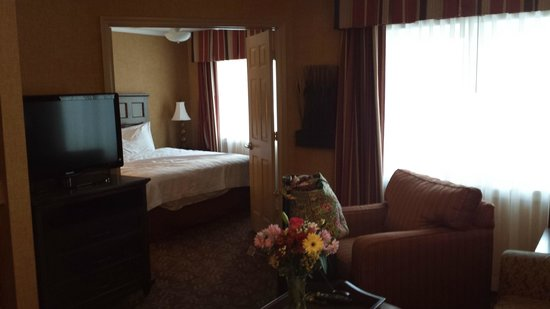 Homewood Suites Syracuse/Liverpool : Long shot across suite