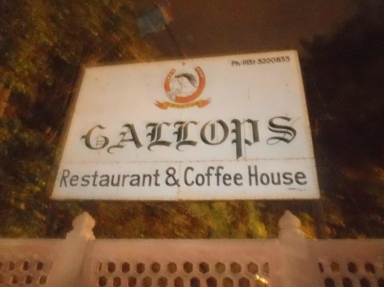 Gallops: the menu card...