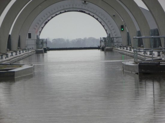 The upper canal at the Falkirk Wheel