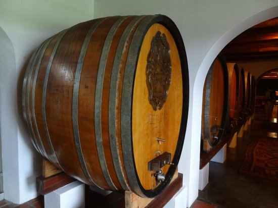 La Motte Wine Estate: Old foudres in the cellar
