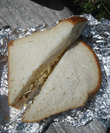 Blue Bird Tea Rooms: the takeaway Cheese and Pickle sandwich