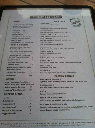 Dinghy Dock Bar OP: Drinks