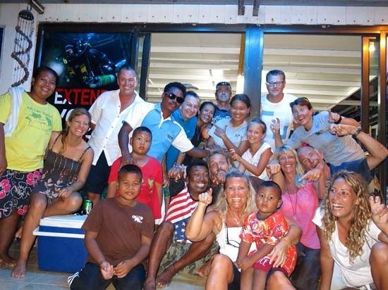 Ocean Pro Divers: staff and customers, what a team!!!