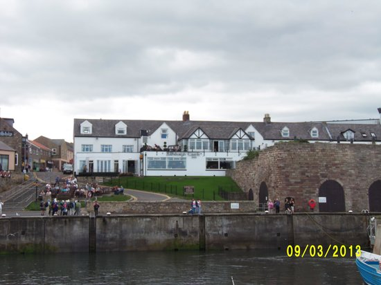 The Bamburgh Castle Inn View Of Hotel From Harbour