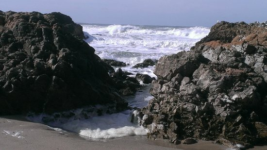 Pescadero, CA: View of rocks