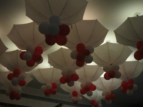 Out of the Blue: Swiss Food Festival decor