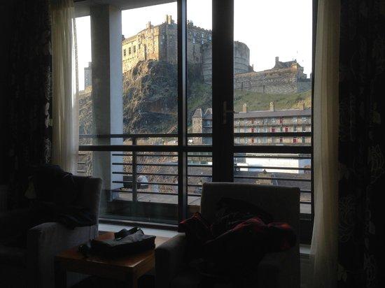 Apex Grassmarket Hotel: View from deluex room