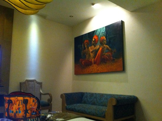 Le Sutra - The Indian Art Hotel : Amazing Art work in Kathak Room