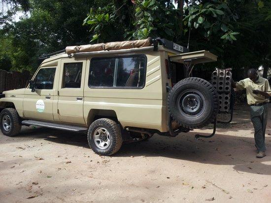 Saadani Safari Lodge River Safari: Safari Jeep